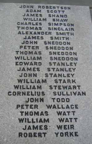 War Memorials - Scottish Mining Website
